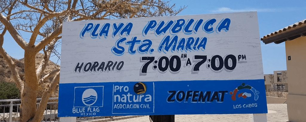 Santa Maria Beach Information Signs