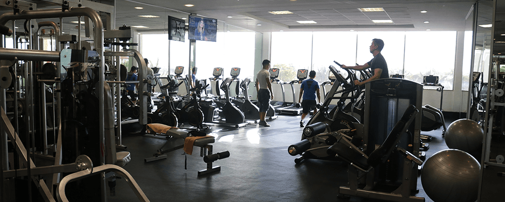 GYM at the hotels to stay healthy while vacationing