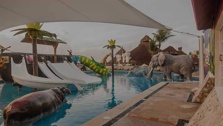 Water park and kids club at Club Solaris