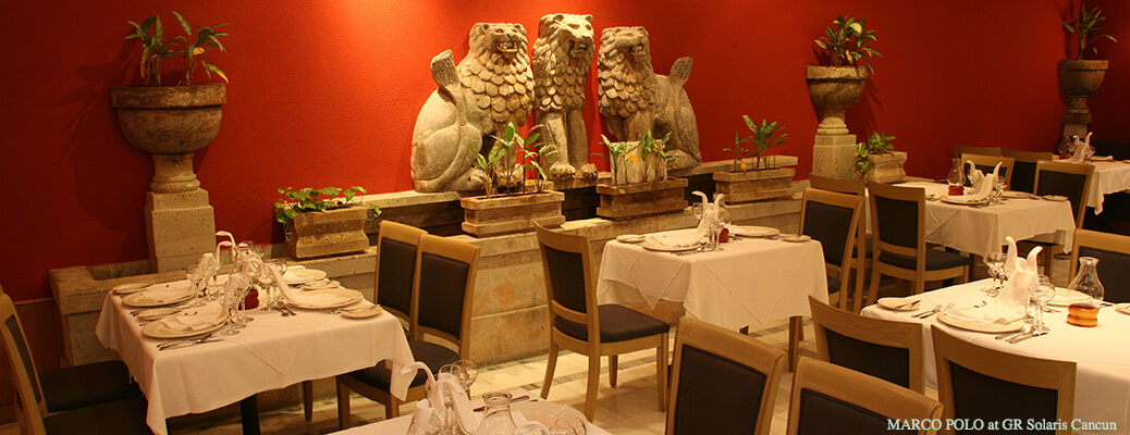 Marco polo restaurant at gr solaris all inclusive resort in cancun