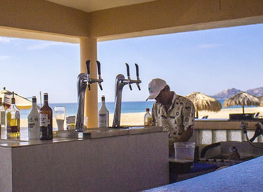 Cabo resort with beach bar. royal solaris los cabos - cabo all inclusive resort